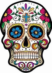 Tete De Mort Mexicaine Femme : calavera tete de mort mexicaine 1 autocollants stickers ~ Melissatoandfro.com Idées de Décoration