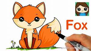 How to Draw a Cute Fox Easy - YouTube