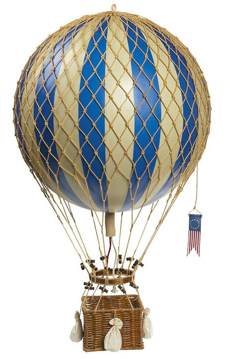 Air Decorations - blue white striped air balloon model hanging