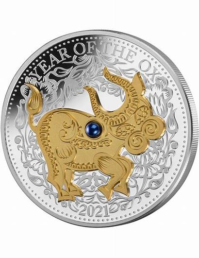 Ox Chinese Lunar Coin Freshwater Pearl Oz