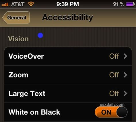 invert colors iphone how to invert the or iphone screen to make reading at