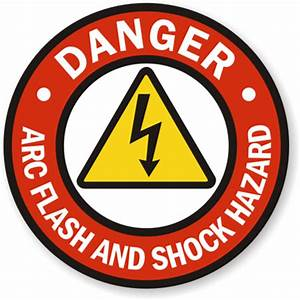 Danger arc flash and shock hazard sign at the best price for Arc flash sign
