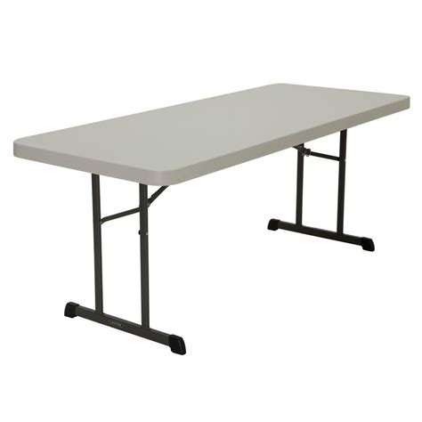 lifetime almond folding table 80249 the home depot