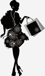 Shopping Fashion Woman Silhouette, Shopping, Woman ...