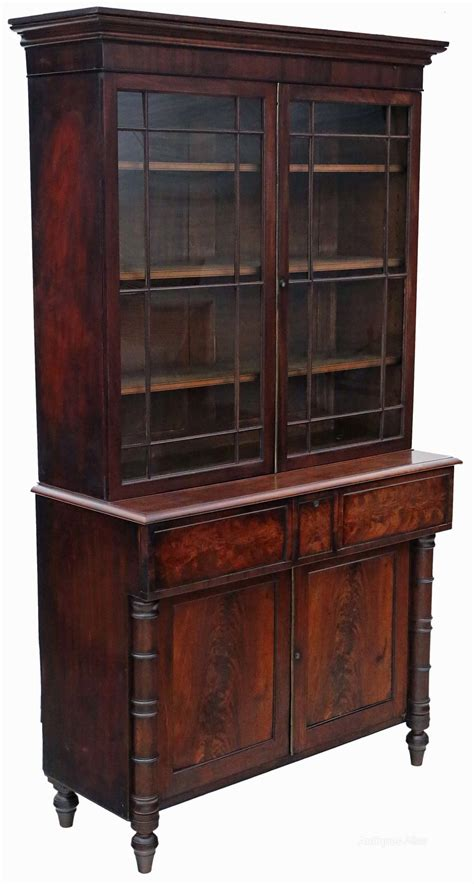 antique desk with bookcase georgian mahogany secretaire bookcase desk writing