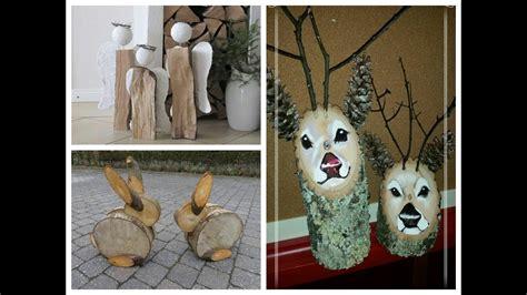 diy log decor ideas wooden christmas decorations e bayzon