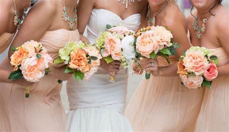 Silk Flowers Bridesmaid Bouquets