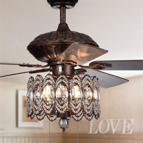 mariposa 52 inch rustic bronze chandelier ceiling fan wtih