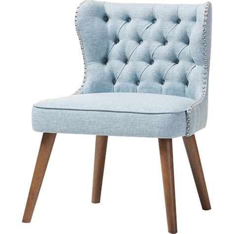light blue accent chair upholstered nailhead accent chair button tufted