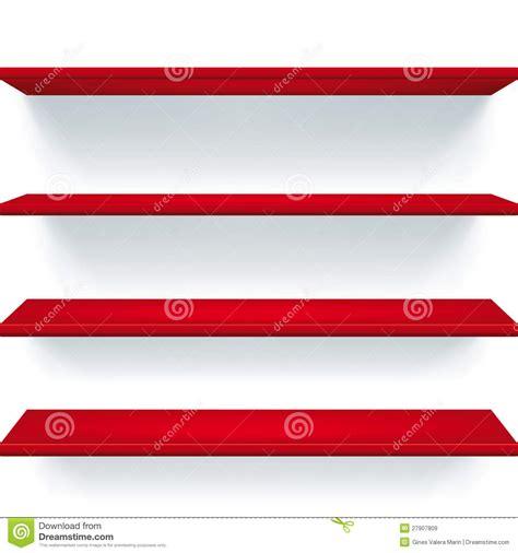 Mensole Rosse Mensole Rosse Illustrazione Vettoriale Illustrazione Di
