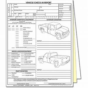 3-part Vehicle Check-in Rpt