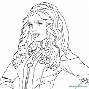 Descendants Coloring Pages Free Printable Coloring Pages
