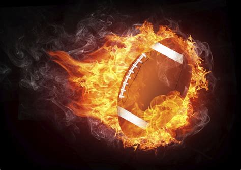 football fire clipart ball background player vector cartoon flame american tv clip bowl burning super flaming illustration isolated graphic deals