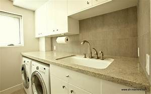 Splashy under cabinet paper towel holder in laundry room for Under cabinet washer and dryer