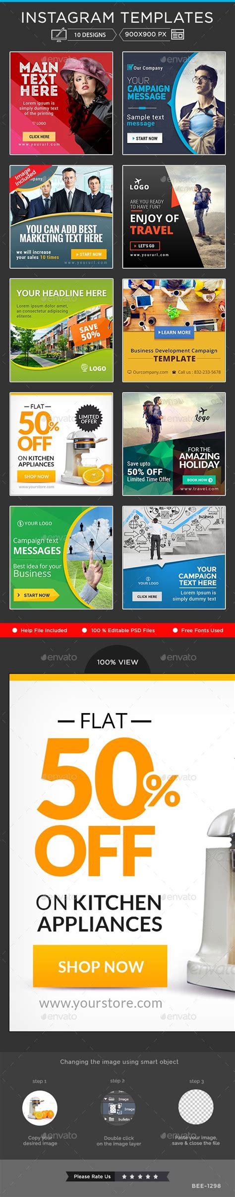 Banners Redes Sociales Template by Instagram Banner Templates 10 Designs Redes Sociales