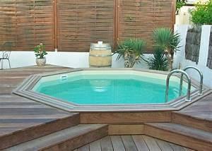 Piscines Semi Enterrées : terrasse avec piscine en bois piscines en bois hors sol ~ Zukunftsfamilie.com Idées de Décoration