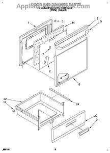 Parts For Whirlpool Rf3661xdw0  Door And Drawer Parts