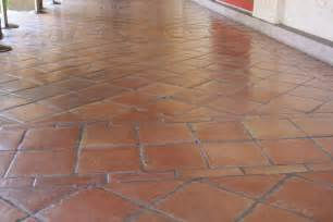 tile floor and decor saltillo floor tile in a diagonal pattern mexican home