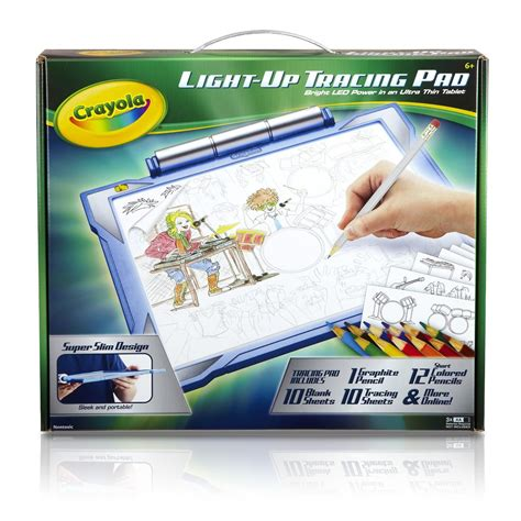 light board for kids crayola blue light up tracing pad childrens boys drawing