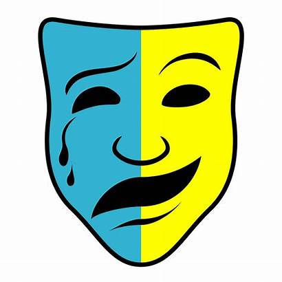 Masks Comedy Tragedy Mask Clip Clipart Drama