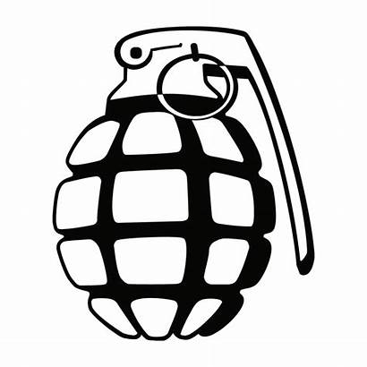 Grenade Hand Decal Coloring Military Template Decals