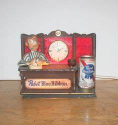 Vintage Pabst Blue Ribbon Beer Electric Pendulum Wall