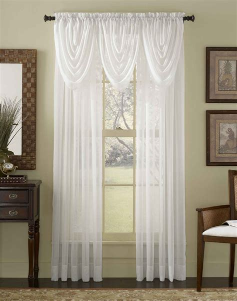 Noble Handmade Scarf Over Valance And White Curtains With