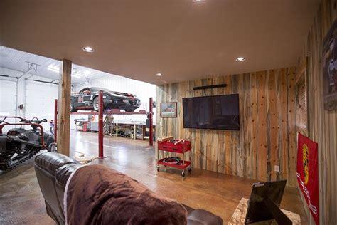 morton buildings garage interior  jackson wyoming