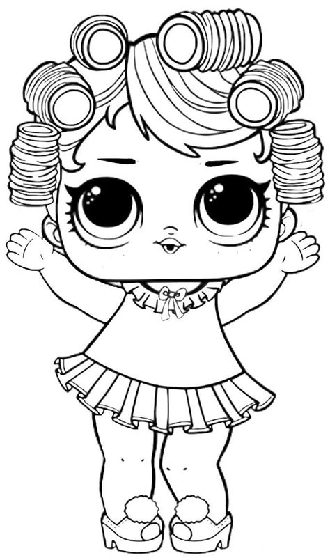 lovely lol baby doll coloring pages coloring pages