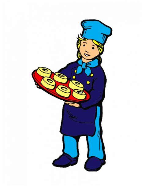 disegno  cuoco pasticcere  colori  bambini