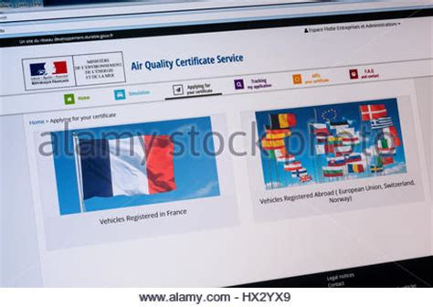 qualité air lyon air quality certificate crit air for the big towns stock photo royalty free