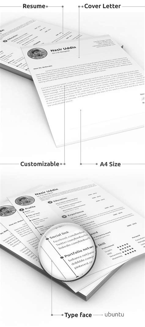 free modern resume templates psd mockups freebies