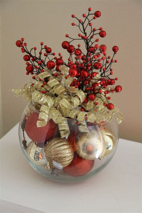 unique christmas centerpiece red and gold by
