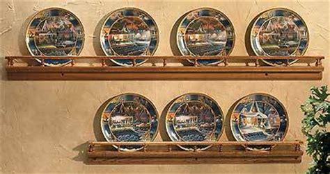 plate rail solid oak wood plate display frames