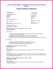 curriculum vitae format for college students 7 student cv format