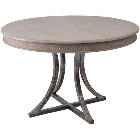 all wood dining table buy distressed wood and metal circular dining table from