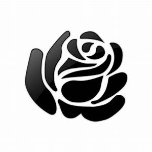 Black and White Clip Art: Rose Black and White Clip Art