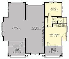rv garage plans living quarters floor plans house plans garage plans