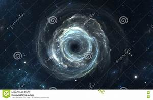 Black Hole In Deep Space Stock Illustration - Image: 77248374