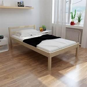 Lit Blanc 1 Personne : lit en bois de pin massif blanc naturel lit simple lit 1 personne lit 1 place ebay ~ Teatrodelosmanantiales.com Idées de Décoration