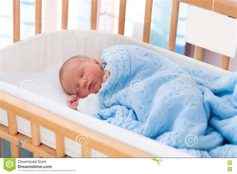 Newborn Baby Boy In Hospital Cot Stock Photo Image 72155923