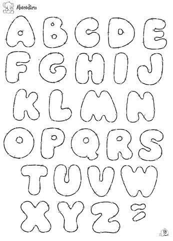 cantinho criativo arte em molde alfabeto