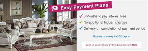 easy payment plans united furniture outlets