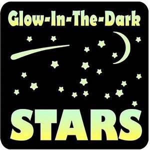 glow in the dark 150 stars vinyl wall decals set kids With glow in the dark vinyl lettering