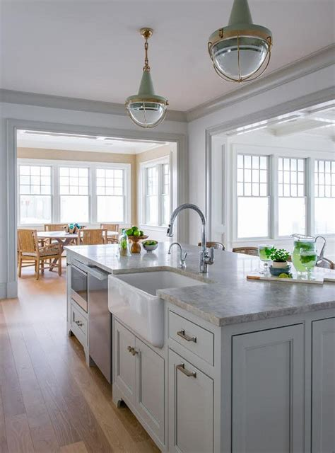 kitchen islands with sinks ben gray owl kitchen with quartzite countertop