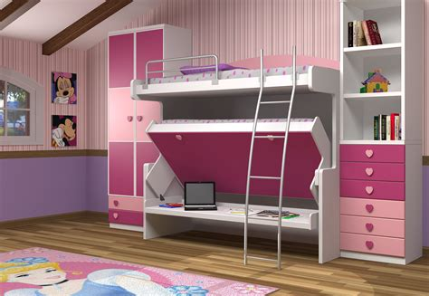 hiddenbeds double decker desk bed desk bed girls