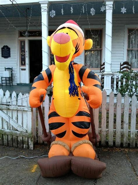 Gemmy Inflatable Halloween Train by Gemmy Christmas Airblown Inflatable Disney Tigger On Skis