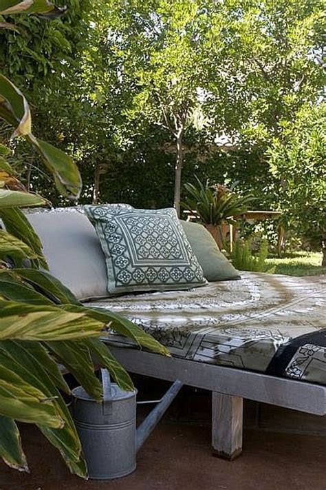 create  outdoor lounge bed hunker