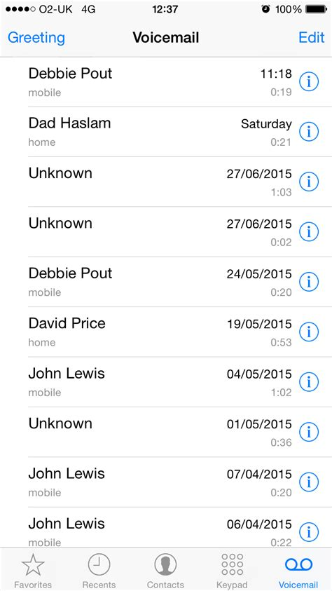 iphone visual voicemail managing voicemail on your iphone macworld uk