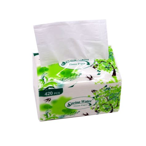 china factory white  embossing soft facial tissue paper